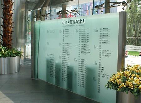 中建大厦楼层索引展示标识牌
